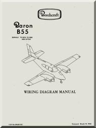 beechcraft baron b 55 aircraft wiring diagram manual -
