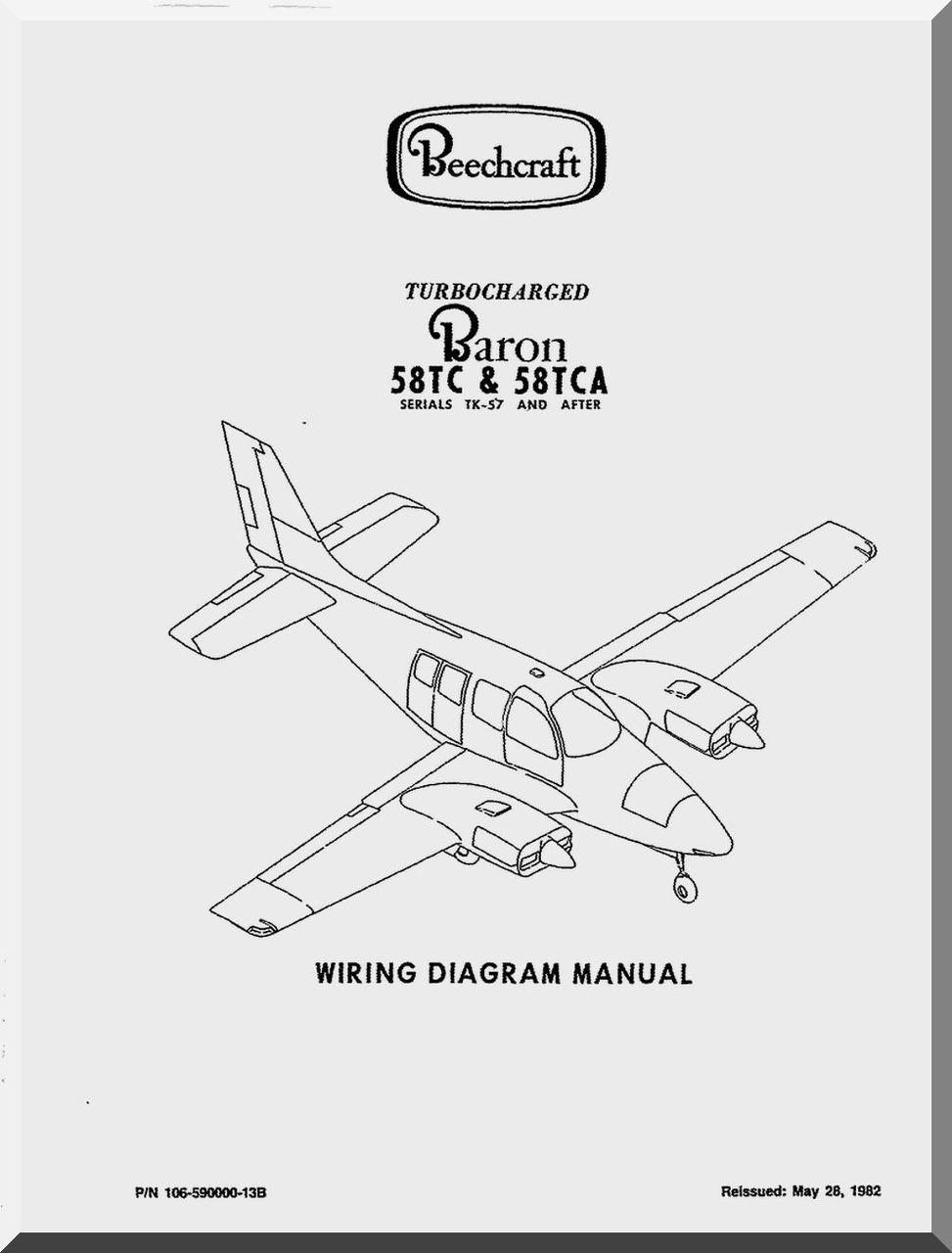 beechcraft baron 58 tc tca aircraft wiring manual 1982 aircraft rh aircraft reports com