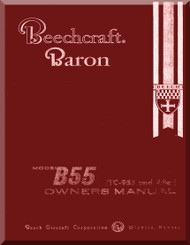 Beechcraft  Baron 55   Aircraft  Owner  Manual -  1961