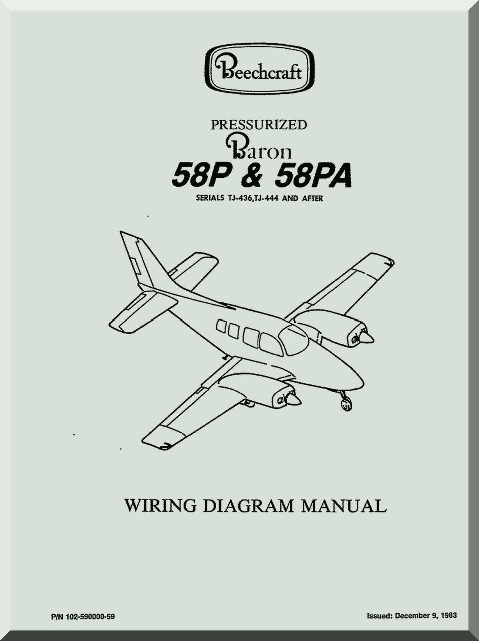 Super Beechcraft Baron 58 P Pa Tc Tca Aircraft Wiring Manual Aircraft Wiring Cloud Philuggs Outletorg