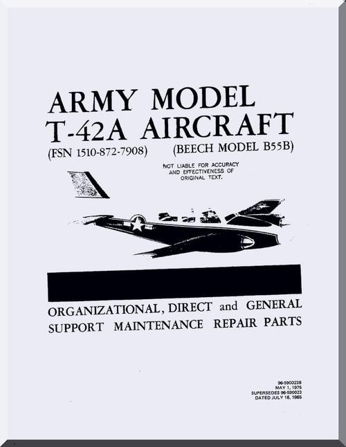 Beechcraft T-42 A Aircraft Organizational Direct and