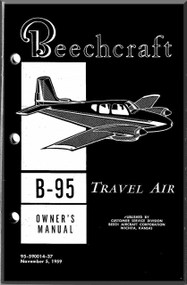 Beechcraft  B-95  Travel Air Aircraft  Owmer's Manual -