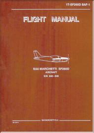 SIAI Marchetti SF-260 D Aircraft Flight Manual -1T-SF260D BAF-1
