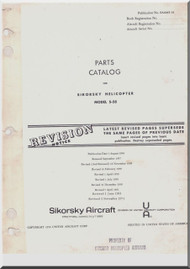 Sikorsky S-58  Helicopter Illustrated Parts Catalog Manual