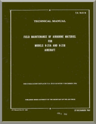 Piasecki  H-21 A B Helicopter Field Maintenance Manual - 1H-21-18