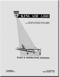 Beechcraft Super King Air A 100 Aircraft Pilot's Operating  Manual - 1984