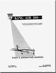 Beechcraft Super King Air 100 Aircraft Pilot's Operating  Manual - 1984