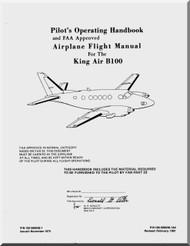Beechcraft Super King Air B 100 Aircraft Pilot's Operating  Manual - 1981
