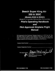 Beechcraft Super King Air  350 and 350 C Aircraft Pilot' Operating Handbook  Manual