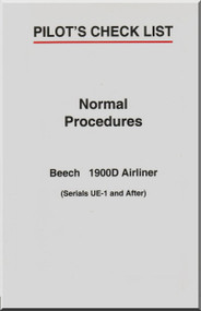 Beechcraft  Airliner 1900 D Aircraft Pilot's Check List  Manual