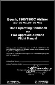 Beechcraft  Airliner 1900 / 1900 C Aircraft Pilot's Operating Handbook  Manual
