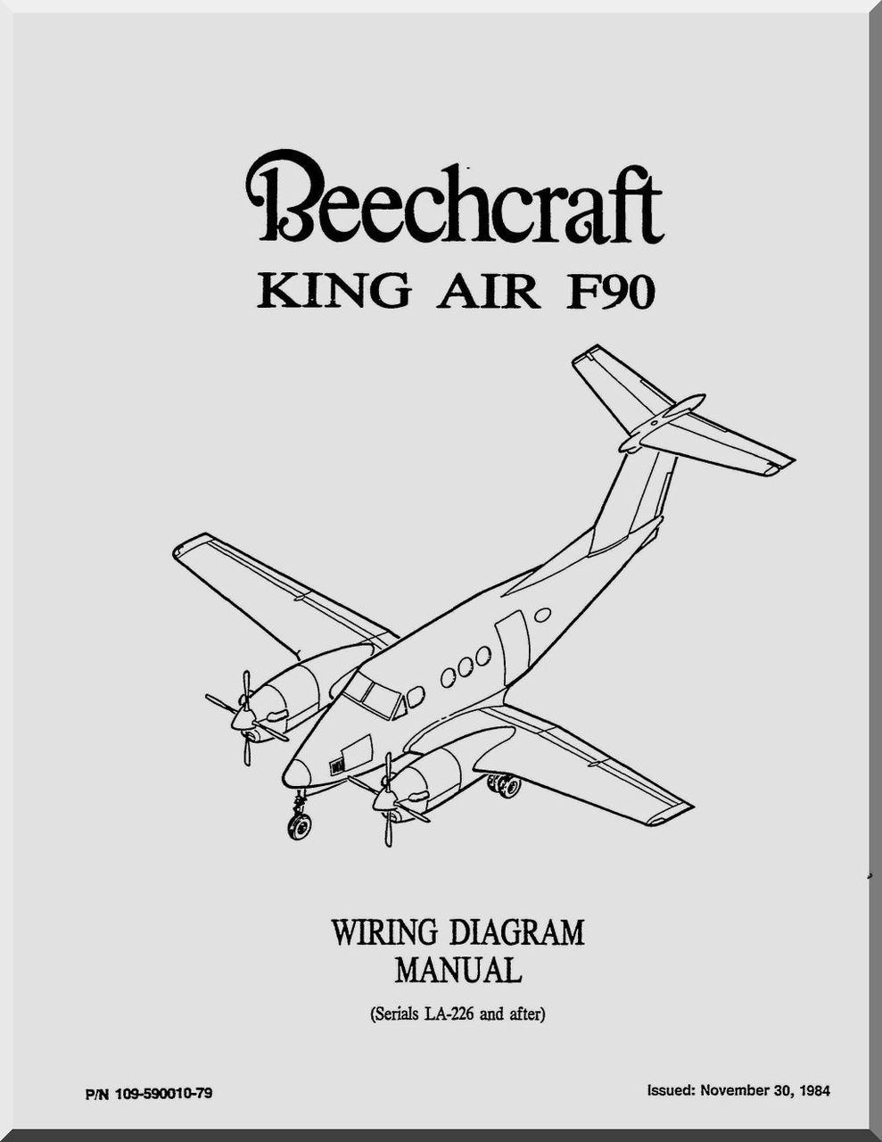 Beechcraft King Air F 90 Aircraft Wiring Diagram Manual