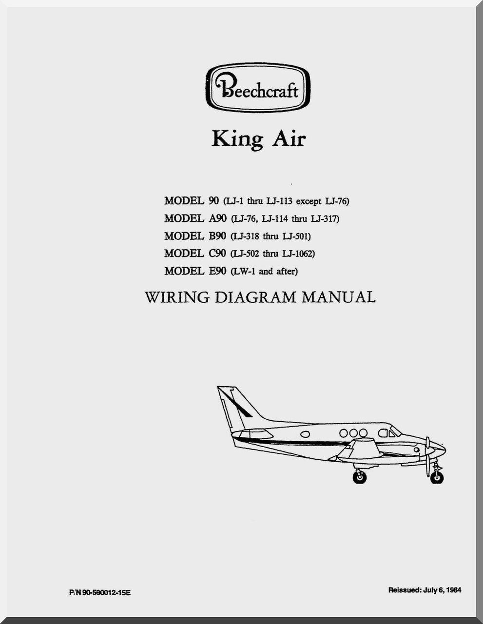 Swell Beechcraft King Air 90 A90 B90 C90 E90 Aircraft Wiring Diagram Wiring Cloud Philuggs Outletorg