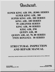 Beechcraft  Twins  Aircraft   Structural Inspection and Repair Manual -