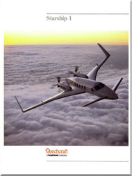 Beech Beechcraft 2000 Starship 1  Technical Brochure Manual -1987
