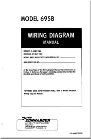 Aero Commander 695 B  Aircraft Wiring Diagram Manual
