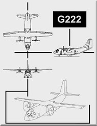 Aeritalia / FIAT G-222 Aircraft Flight Manual, ( English Language ) ANAAC. 1C-G22-1