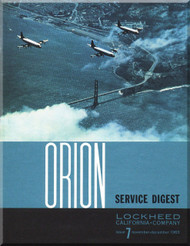 Lockheed Orion  Aircraft Service Digest  - 7 -  November December - 1963
