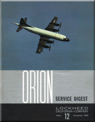 Lockheed Orion  Aircraft Service Digest  - 12 -  December -  1965