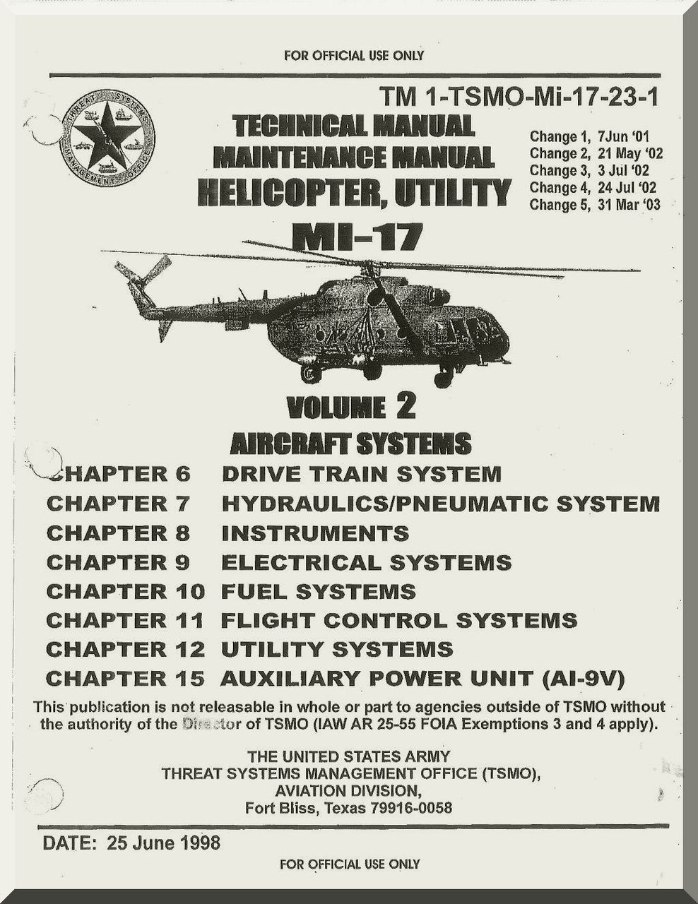 Mil Mi-17 Helicopter Maintenance Manual TM 1-TSMO-Mi-17-23