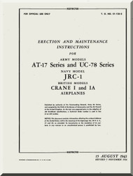 Cessna AT-17 UC-78 JRC-1  Aircraft Erection and Maintenance Instructions Manual  T.O 01-125-2 1943