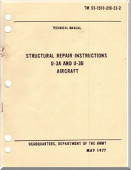 Cessna U-3 A, B  Aircraft Structural Repair Instructions   Manual - - TM 55-1510-216-23-2 , 1977