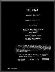 Cessna T-41B   Aircraft Parts Catalog Manual  ,  1974