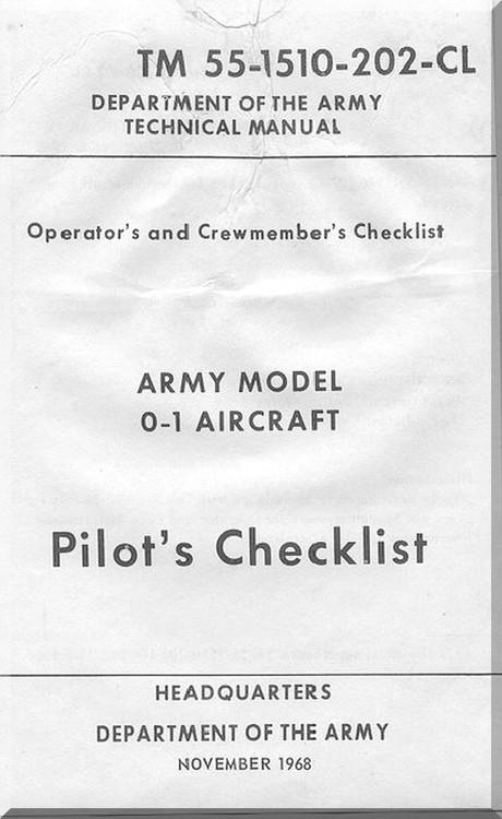 Cessna O-1 Aircraft Checklist Manual TM 55-1510-202-CL