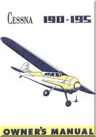Cessna 190 195  Aircraft Owner's  Manual , 1954