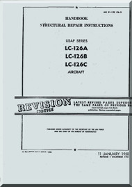 Cessna LC-126 A, B, C  Aircraft Handbook Structural Repair Instruction Manual TO 01-1C-126CAA-3, 1950