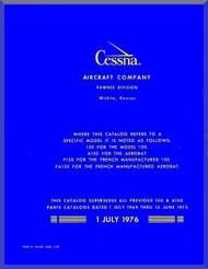 Cessna 150 Series Aircraft Illustrated  Parts Catalog Manual  , 1976