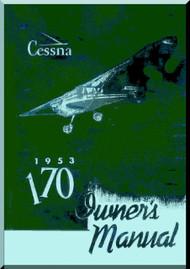 Cessna 170  Aircraft Owners  Manual , 1953