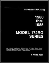 Cessna  172 RG Series Aircraft Parts Catalog Manual 1980 thru 1985