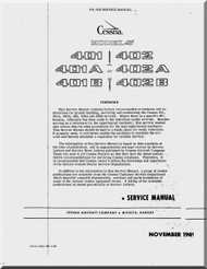 Cessna  401 / 402 Aircraft Service  Manual 1969