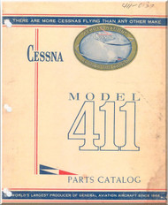 Cessna 411   Aircraft Illustrated  Parts Catalog Manual  , 1956