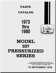 Cessna 337 G Skymaster Aircraft Illustrated Parts Catalog
