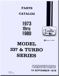 Cessna 337  & Turbo Series Aircraft Illustrated  Parts Catalog Manual  , 1979
