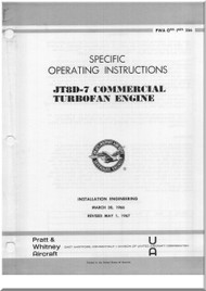 Pratt & Whitney JT8D -7 Aircraft Engine Operating Instruction Manual - 1966