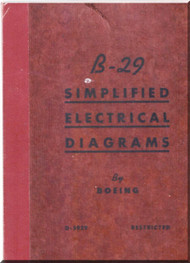 Boeing  B-29  Aircraft  Simplifield Electrical Diagrams  Manual - D-5929
