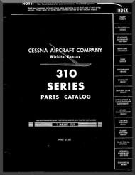 Cessna 310 Aircraft Illustrated  Parts Catalog Manual  , 1959