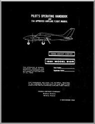 Cessna 310 R Aircraft Pilot's Operating Handbook Manual  , 1980