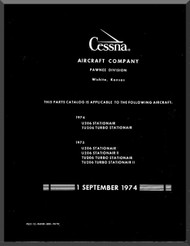 Cessna 206 Series Aircraft Parts Catalog Manual  , 1974 thru 1975