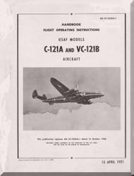 Lockheed  C-121 VC-121 Aircraft Flight Manual - 01-75CKA-1 - 1951