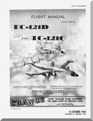 Lockheed EC-121D, TC-121C Aircraft Flight Manual, An 01-121(E)D-1,  1964
