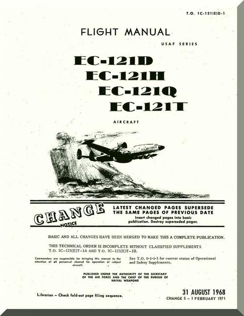 Lockheed EC-121 D, H, Q, T Aircraft Flight Manual, An 01