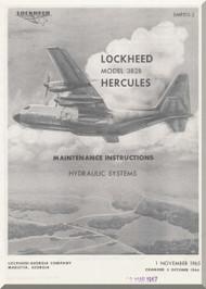 Lockheed L-382 B Maintenance  Manual, Hydraulic System  SMP 515-2 , 1965