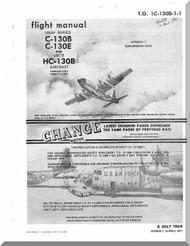 Lockheed C-130 B E HC-130 B Aircraft Perfomance Flight Manual - 1C-130B-1-1 - 1969