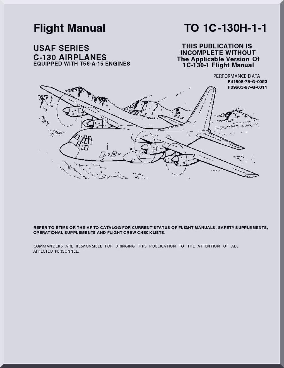 Lockheed C-130 H Aircraft Flight Manual, T.O. 1C-130H-1-1