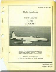 Lockheed T-33 B  Aircraft Flight Handbook  Manual, NAWEPS  01-75FJC-501 ,  1958