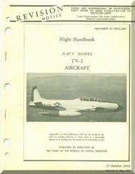 Lockheed TV-2  Aircraft Flight Handbook  Manual, NAWEPS  01-75FJC-501 ,  1958